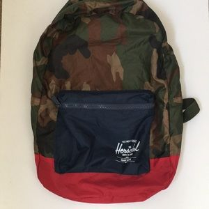 Herschel packable daypack camouflage backpack